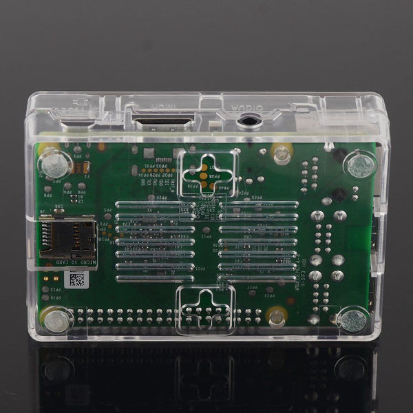 QUALITY Transparent Case Cover For Raspberry Pi Models B+ 2 3 B With HEATSINKS