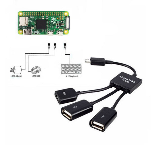Dual Micro USB Host OTG Hub Adapter For Raspberry Pi Zero