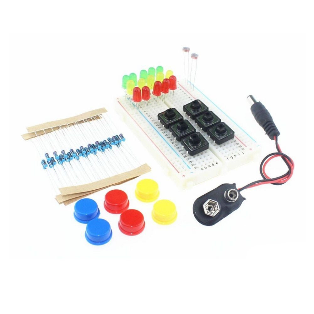 Electronics Starter Kit For Arduino UNO R3 Breadboard LED Jumper Wire Switch