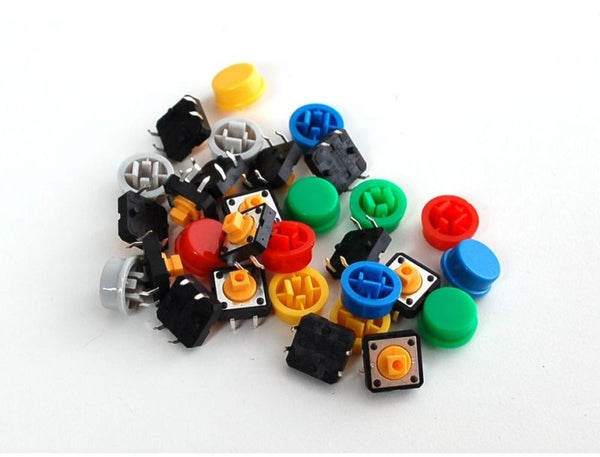 12x12x7.3mm Panel PCB Momentary Tactile Push Button Switch with CAP  5/10/20 PCS
