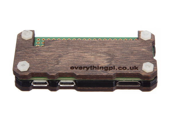 LATEST Raspberry Pi Zero Case with Ceramic Heatsink - Dark Wood