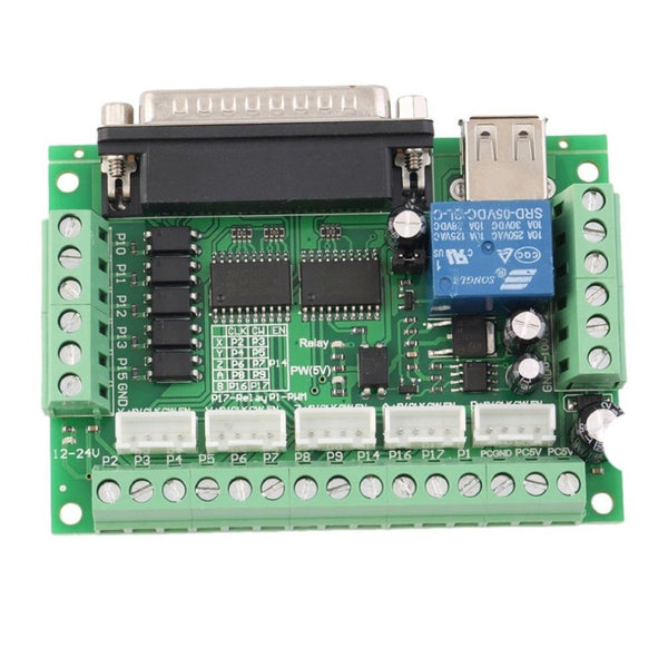 5 Axis CNC Breakout Board Interface Adapter For Stepper Motor Driver + USB Cable