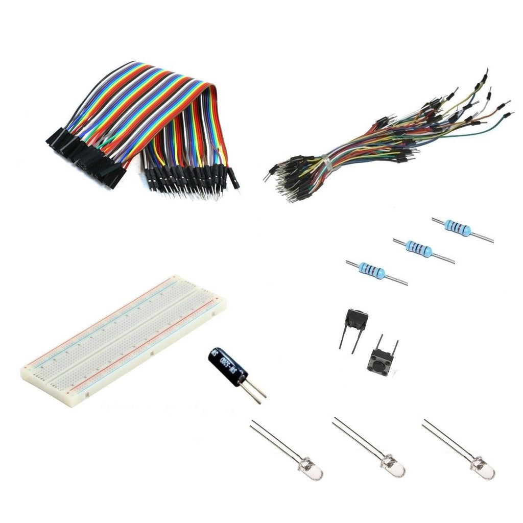GPIO Electronic Starter Kit Resistors Switch LED 830 Breadboard for Raspberry Pi