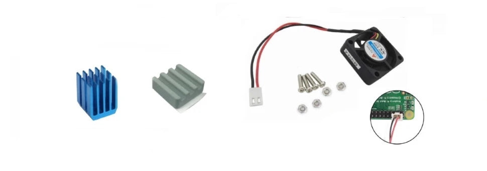 Cooling fan and Ceramic heatsink for Raspberry Pi