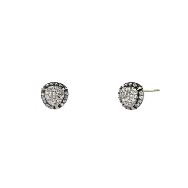 JASMINE PAVE CZ SMALL STUD EARRINGS
