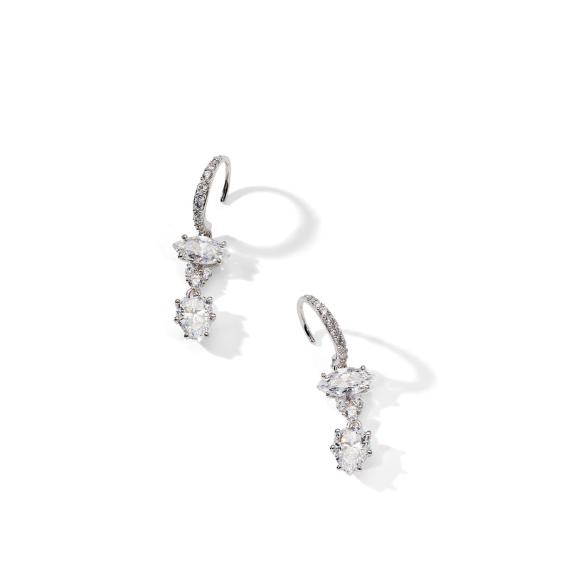 LAVANDE DOUBLE DROP EARRINGS