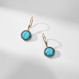 CAPRI TURQUOISE SMALL DROP EARRINGS
