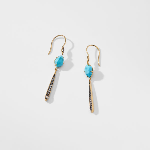 CAPRI TURQUOISE LINEAR EARRINGS