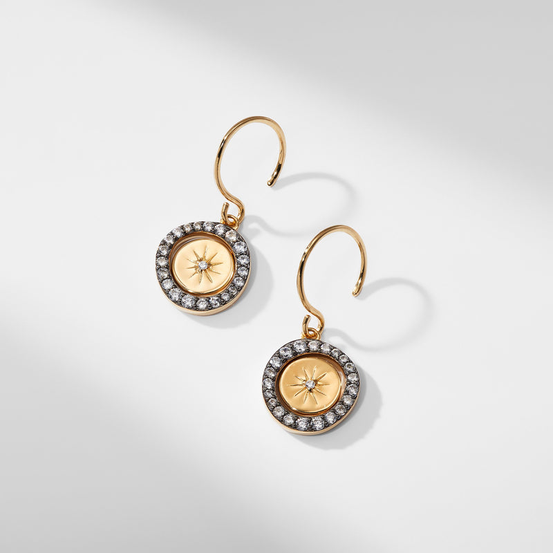 LUMEN MEDALLION DROP EARRINGS