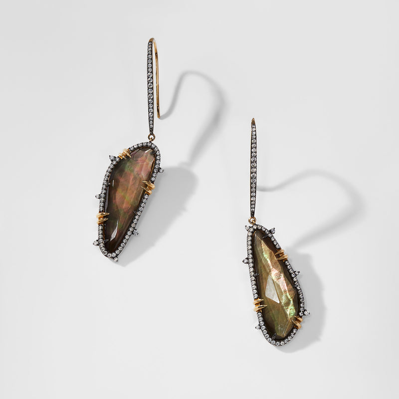 LUMEN STONE DROP EARRINGS