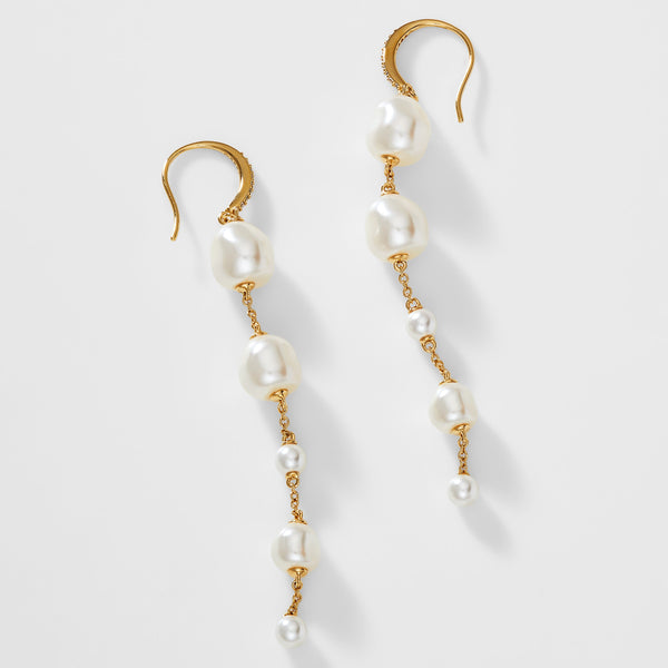 BOHEME PEARL LINEAR EARRINGS