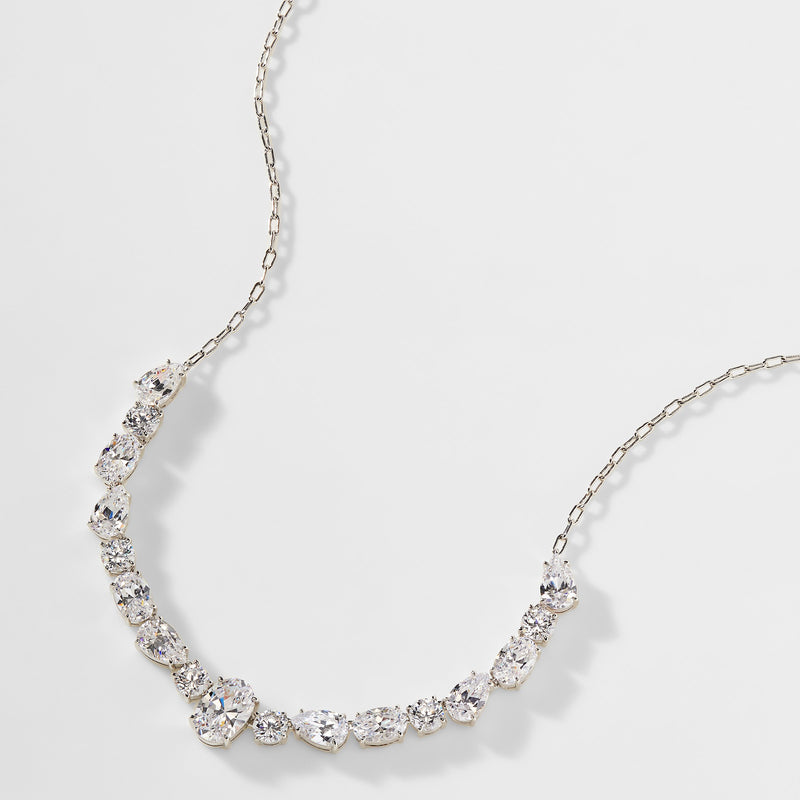 EMILIA MIXED CZ STONE FRONTAL NECKLACE
