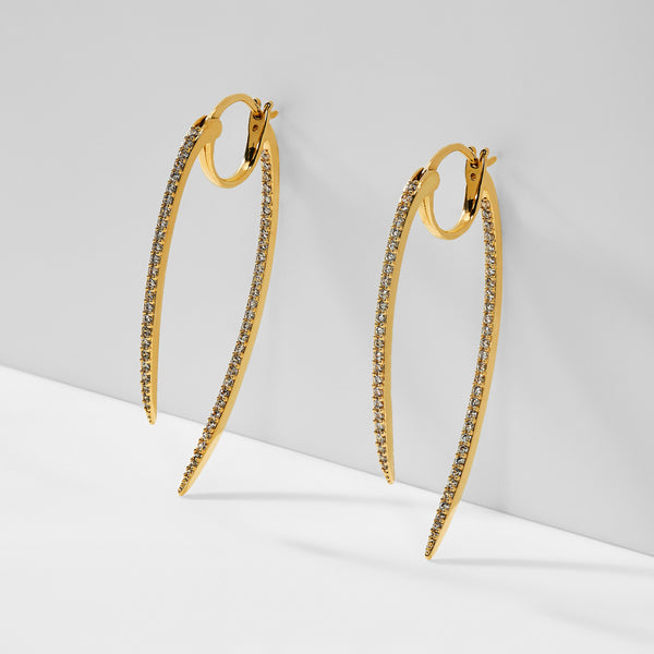 CURVED SPIKE HOOP EARRING
