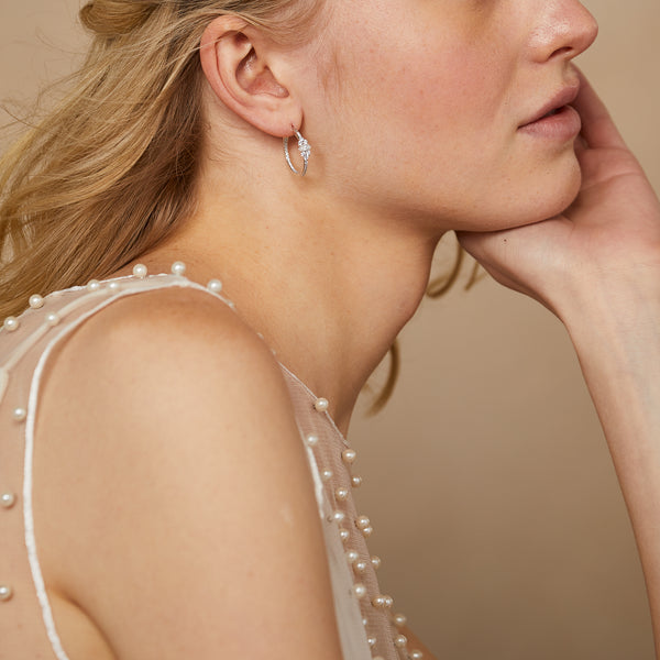 LAVANDE HOOP EARRINGS