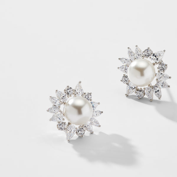 NECTAR FRAMED PEARL EARRINGS