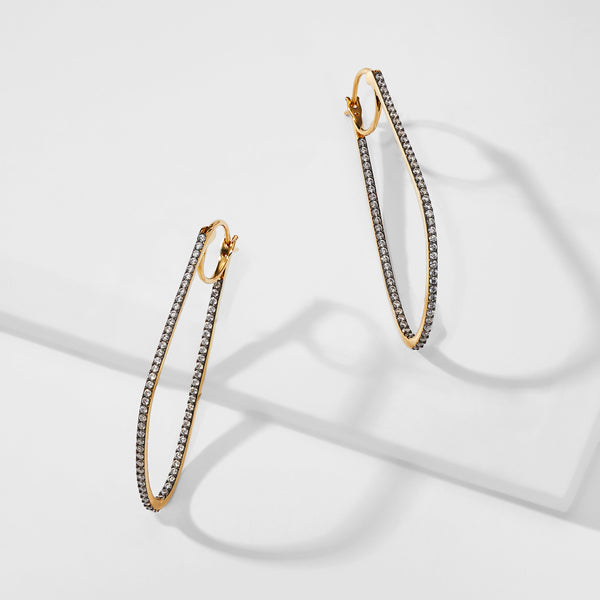 LUMEN ORGANIC HOOP EARRINGS