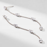 PEAR CZ LINEAR DROP EARRINGS