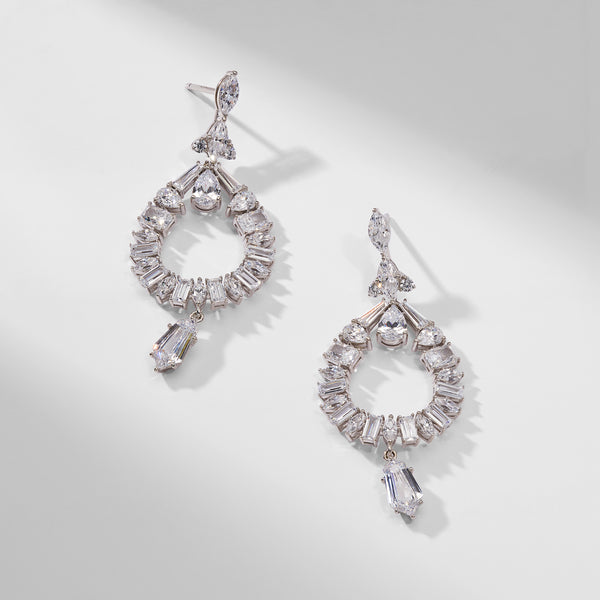 FRONT FACING CHANDELIER EARRINGS