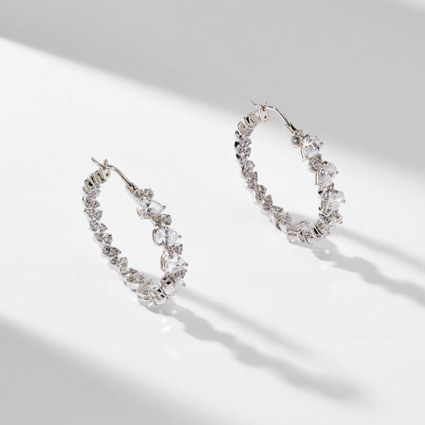 CHLOE MEDIUM HOOP EARRINGS