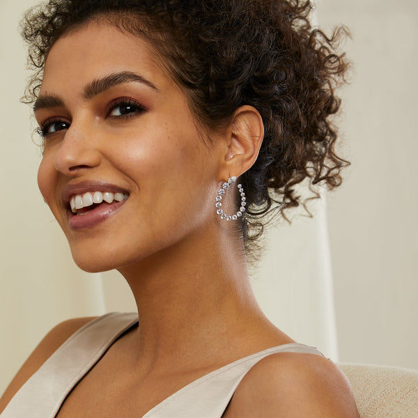 CHLOE FRONT BACK HOOP EARRINGS