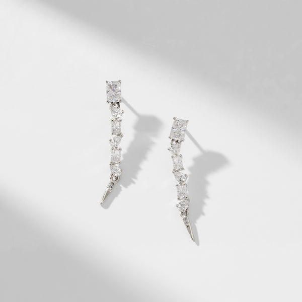 REMI MIXED STONE LINEAR EARRINGS