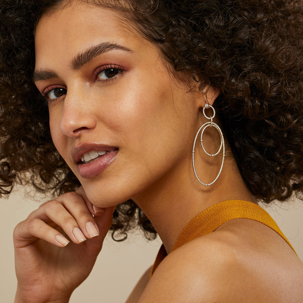 REMI LARGE ORBITAL HOOP EARRINGS