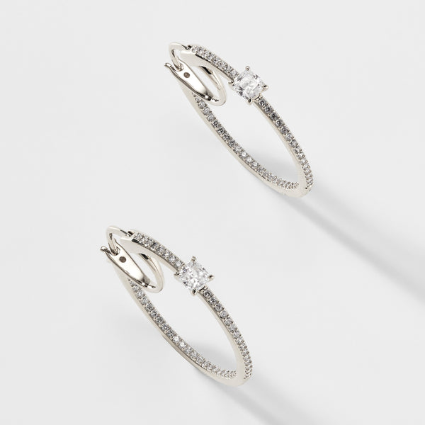 EMILIA CZ HOOP EARRINGS