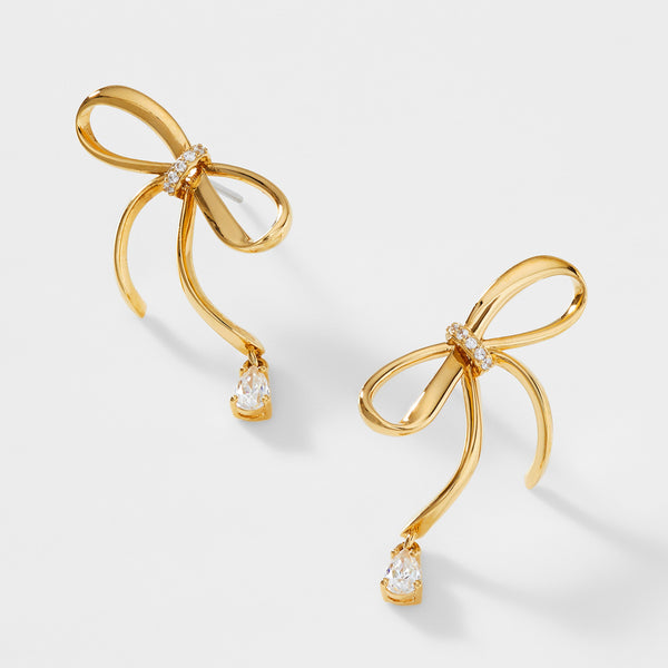 BOHEME BOW CZ STUD EARRINGS
