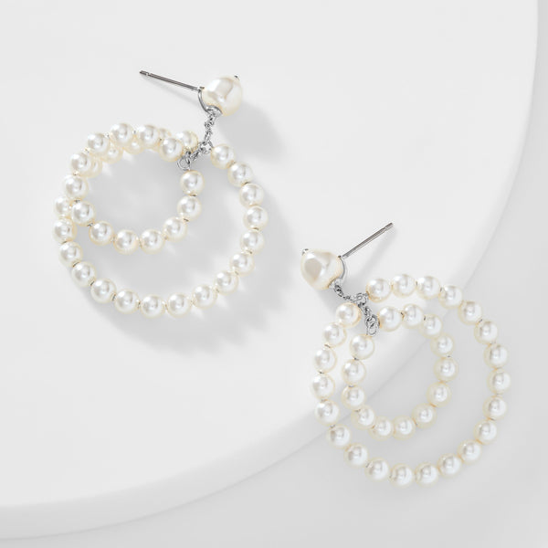 BOHEME PEARL ORBITAL EARRINGS