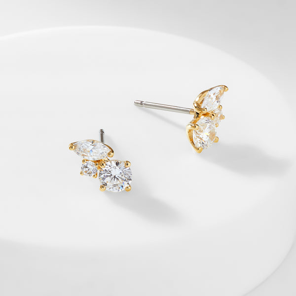 PRIMA CZ STUD EARRINGS