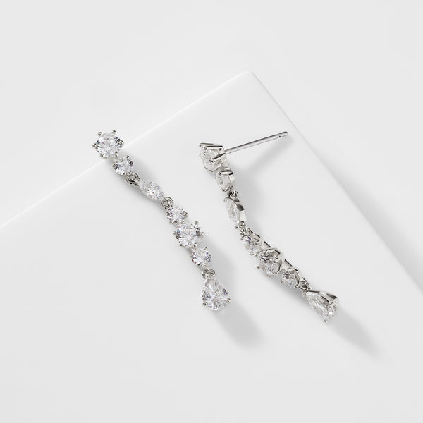 PRIMA CZ MEDIUM LINEAR EARRINGS
