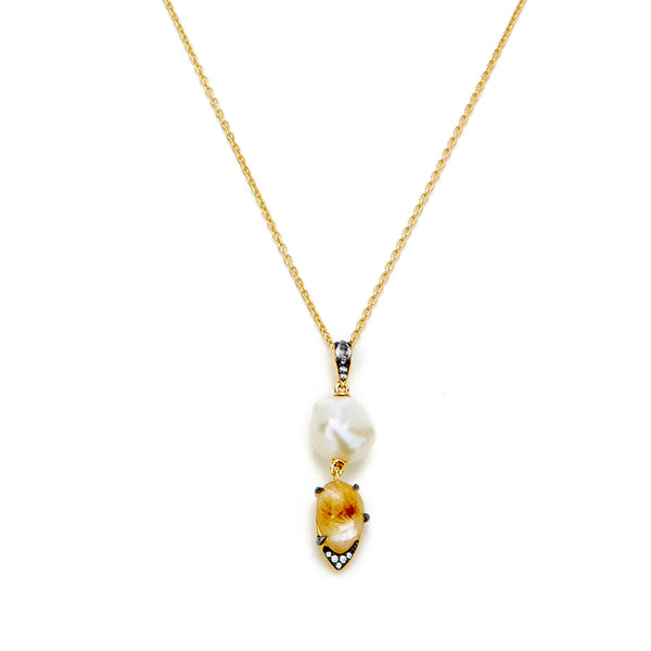 RAVENNA MIXED DROP PENDANT NECKLACE