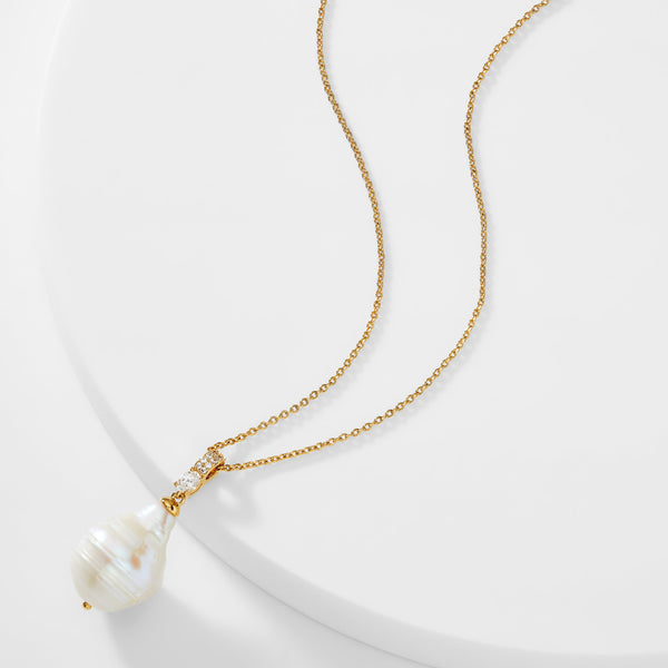 BOHEME XL PEARL PENDANT NECKLACE