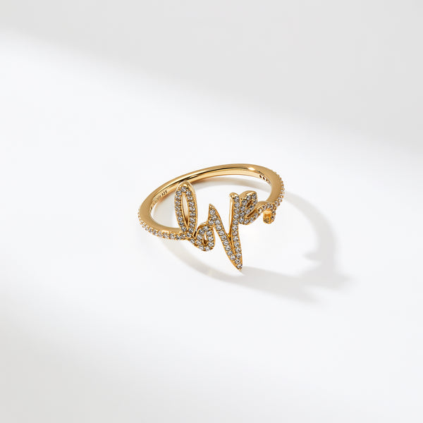 TAGGED LOVE PAVE RING