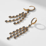 CAPRI PAVE DRAMA DROP EARRINGS