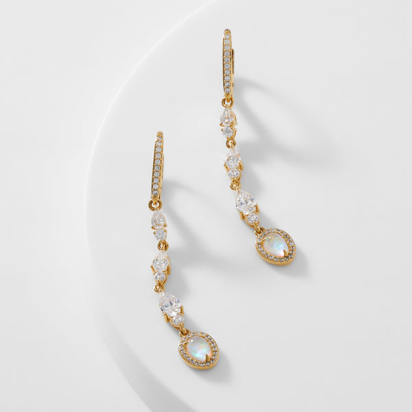 VANESSA STATEMENT LINEAR EARRINGS