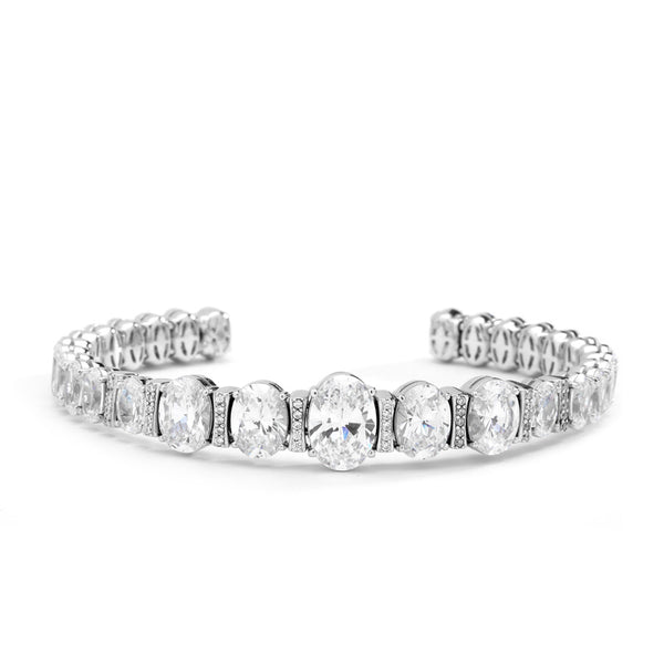 CZ GRADUATED OVAL BOTTOM OPEN CUFF
