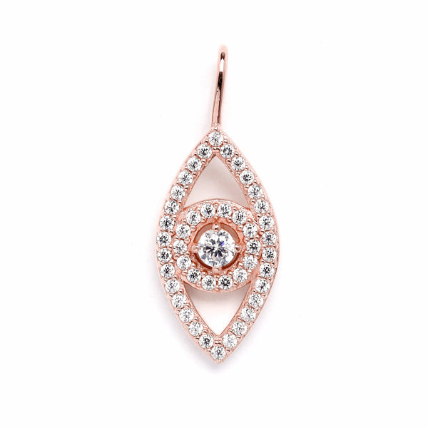 nadri create your own evil eye cz rose gold plated sterling silver charm