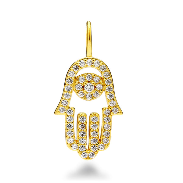 nadri create your own hamsa cz 18k gold plated sterling silver charm