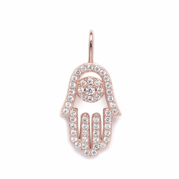 nadri create your own hamsa cz rose gold plated sterling silver charm