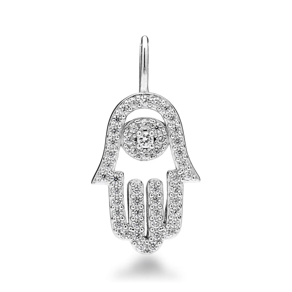 nadri create your own hamsa cz rhodium plated sterling silver charm