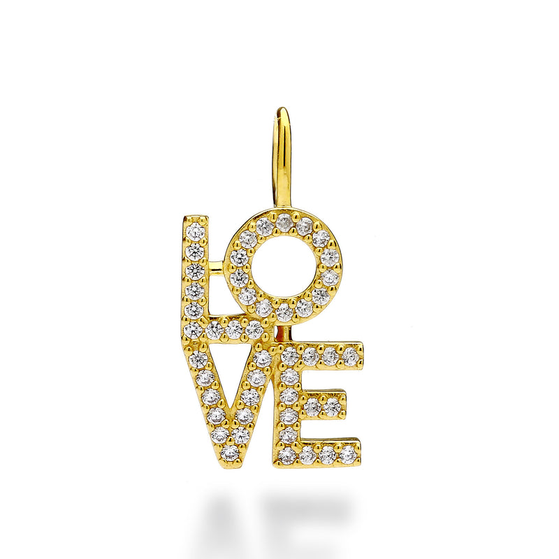 nadri create your own love cz 18k gold plated sterling silver charm
