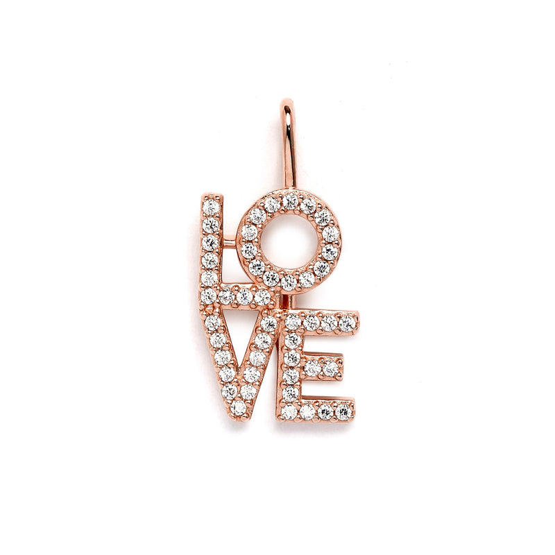 nadri create your own love cz rose gold plated sterling silver charm