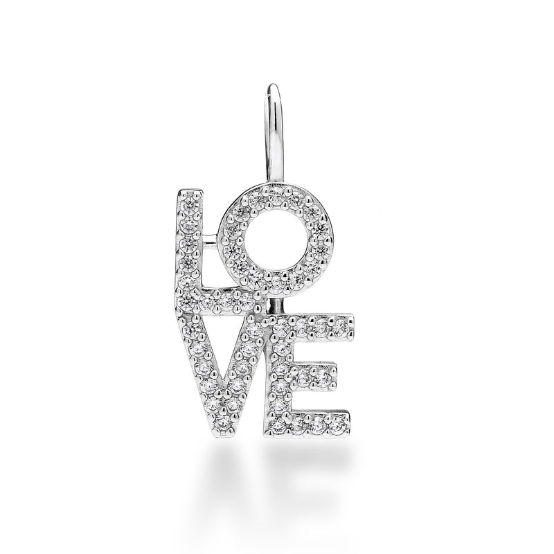 nadri create your own love cz rhodium plated sterling silver charm