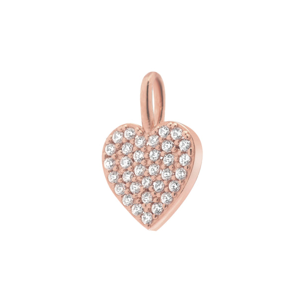 PAVE HEART CHARM - 3 Colors