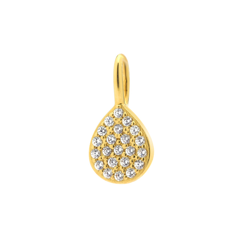 NADRI CHARM GOLD TEAR TEARDROP DROP