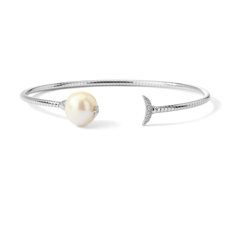 JULIET FRESHWATER PEARL AND CZ FLEXI CUFF