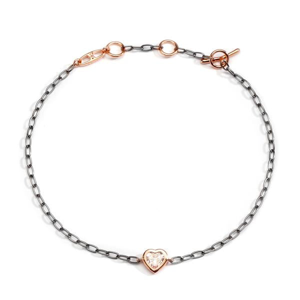 HEARTS & DAGGERS CLEAR HEART BRACELET