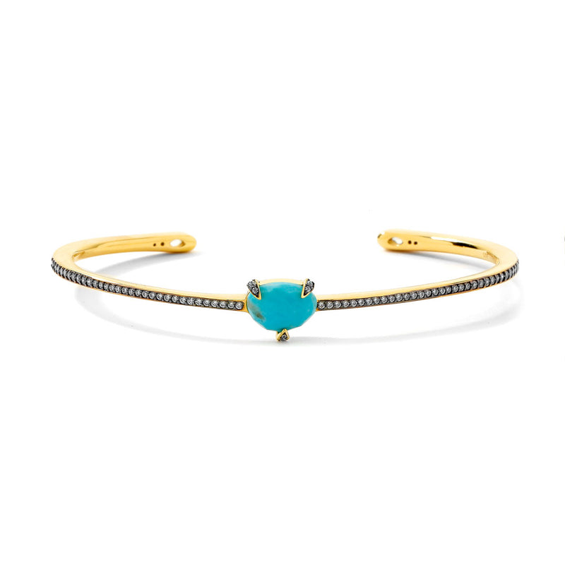 AGEAN TURQUOISE AND WHITE TOPAZ CUFF