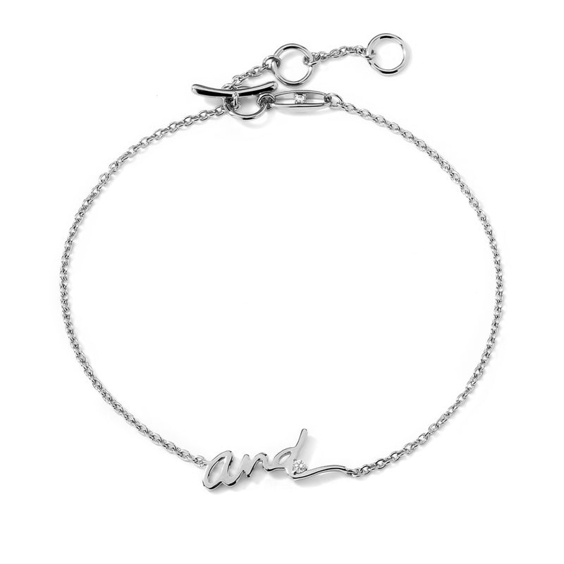 "TAGGED ""AND"" LINE BRACELET"